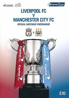 £7.99 • Buy CAPITAL ONE LEAGUE CUP FINAL 2016 Liverpool V Manchester City Official Programme