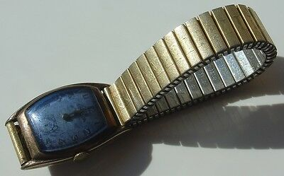 $ CDN44.61 • Buy Vintage Art Deco Bulova Blue Crystal Parts Watch RGP Bezel Vtg