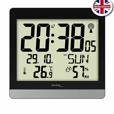 £39.95 • Buy Technoline WS8014 Radio Controlled Digital Wall Clock With Temp And Humidity