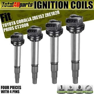 AU73.99 • Buy 4x Ignition Coils Pack For Toyota Corolla Prius Lexus CT200h 1.8L 2ZR-FE 2ZR-FXE