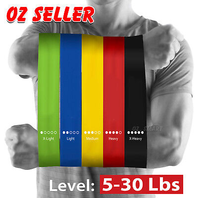 AU12.95 • Buy Heavy Duty Resistance Training Band Loop Power GYM Fitness Exercise Workout Yoga