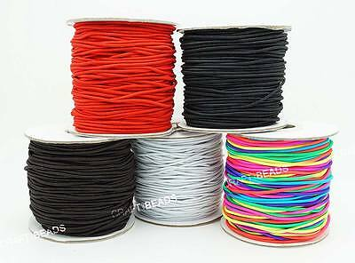 $ CDN33.55 • Buy 1mm 1.2mm 1.5mm 2mm 3mm Nylon Coated Round Elastic Cord Stretchable Mala String