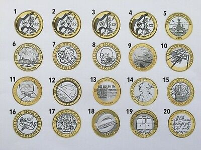£2 COIN/S UK Hunt Collectable Rare Olympic/WW1/Shakespeare/Brunel/Dickens • 3.75£