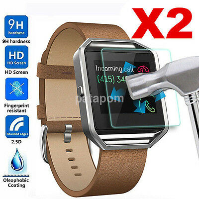 AU3.03 • Buy 2PC Premium Clear Tempered Glass HD Screen Cover Film Protector For Fitbit Blaze