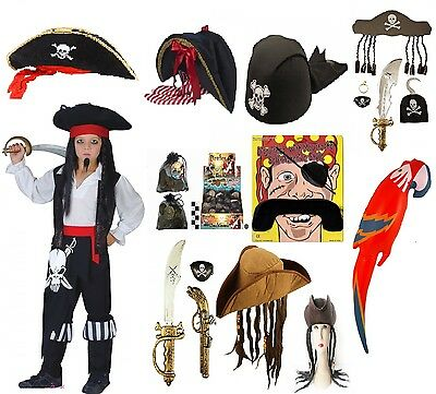 £5.49 • Buy Adults Kids Pirate Fancy Dress Costume Accessory Caribbean  A Lot Birthday Party