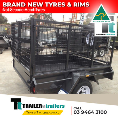 AU3030 • Buy 7x5 CAGE TRAILER - HEAVY DUTY BOX & PAINTED CAGE (3FT)  - SPARE WHEEL