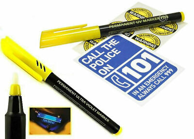 Permanent Ultra Violet Security Property Marker Pen Invisible UV Ink • 3.75£