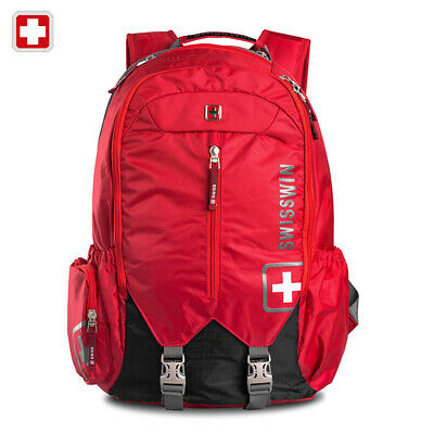 Swiss Waterproof 16  Laptop Backpack Travel School Backpack Shoulder Bags SW9176 • 71.20£