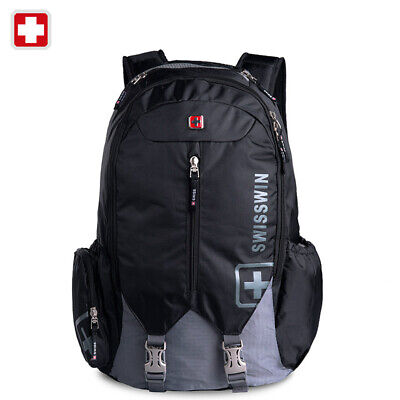 Swiss 16  Waterproof Laptop Backpack Travel School Backpack Shoulder Bags SW9176 • 71.20£