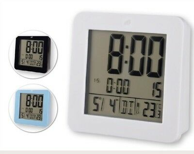 Auriol Lcd Radio - Controlled Alarm Clock  Available Color Only Black . • 8.99£