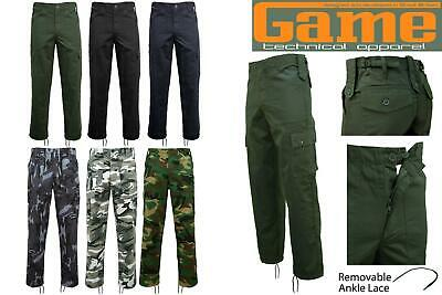 £9.95 • Buy Game Mens Army Military Camo Cargo Multipocket Work Trousers | Pants