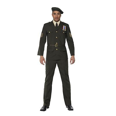 Adult Mens Wartime Army Officer Fancy Dress Costume Dunkirk Military Hero Stag • 48.09£