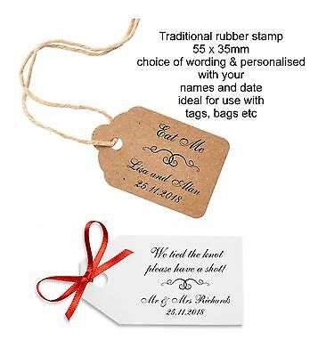 £12.95 • Buy Personalised Eat Me Drink Me Have A Shot Rubber Stamp 11617 Wedding Favours Bags