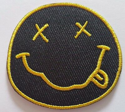 £2.59 • Buy Nirvana Iron On Sew On Patch Embroidered Rock Band Heavy Metal Music Logo Badge