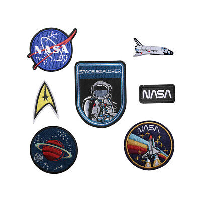 NASA Iron / Sew On Embroidered Patch Applique Embroidery Motif Space Explorers • 1.99£