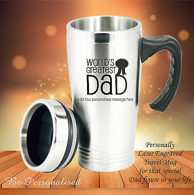 AU24 • Buy Personalised Fathers Day Travel Mug Gift Present Dad Engraved Birthday Coffee