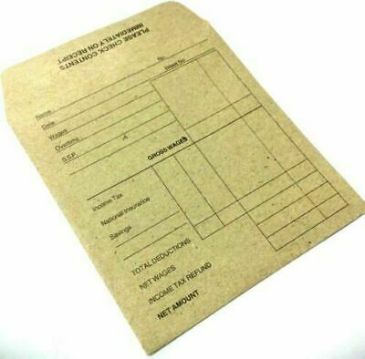 £2.95 • Buy 80X Quality Wage Slip Packet/Dinner Money Envelopes Brown Manilla Self Seal 4250