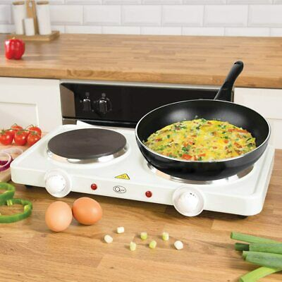 £25.95 • Buy 2500W Double Electric Hot Plates Cooking Hob Cooker Portable Double Plate Stove