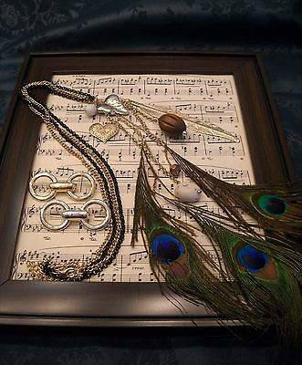 $ CDN13.34 • Buy Vintage & Fine Costume Jewelry Lots - Gorgeous Peacock Necklace - Brooches