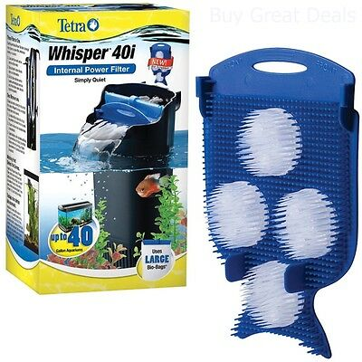 AU24.28 • Buy Tetra Whisper In Tank Filter 20 To 40 Gallon Aquarium 40 L With Bio Filtration