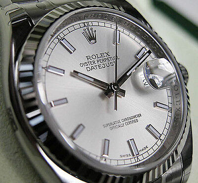 $ CDN10466.78 • Buy Rolex Datejust 116234 Steel & White Gold Oyster 36mm Silver Index Dial Watch