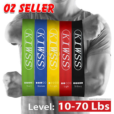 AU12.75 • Buy Resistance Bands Set Power Heavy Strength Exercise Fitness Gym Crossfit Yoga AU