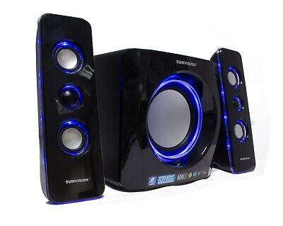 Sumvision N Cube Pro 2 2.1 Bluetooth 15W LED Speaker Subwoofer For PC Laptop • 39.99£