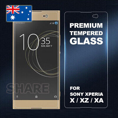 AU3.95 • Buy Tempered Glass Screen Protector For SONY XPERIA X PERFORMANCE XZ PREMIUM XA XA1