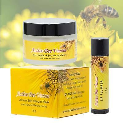 $44.95 • Buy Active Bee Venom Face Cream Mask & Lip Plumper Stick - Buy Together And SAVE