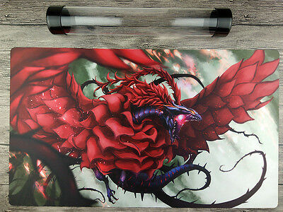 AU32.37 • Buy Black Rose Dragon YuGiOh Playmat Free High Quality Tube TCG/WCQ/YCS Mat