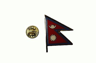 NEPAL Country Flag Metal Lapel PIN BADGE ..NEW • 1.78£