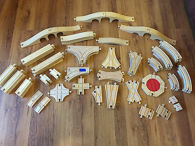 Brio & Compatible Wooden Train Track Straights, Corners Junctions - Combine Post • 2£