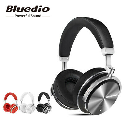 AU33.14 • Buy Bluedio T4S Bluetooth 4.2 Headphones Noise Cancelling Wireless On Ear Headsets
