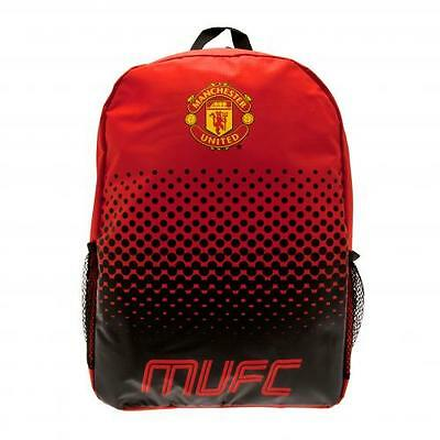 Manchester United FC Official Nylon Backpack School Bag With Mess Side Pockets • 15.29£