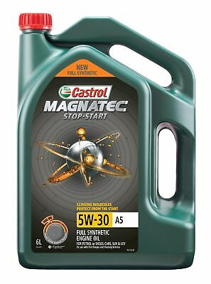 AU62.95 • Buy Castrol MAGNATEC 5W-30 Stop-Start A5 Full Synthetic Engine Oil 6L 3414419