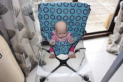 Totseat Washable Squashable Highchair Teal/purple Circles New Without Tags  • 20£