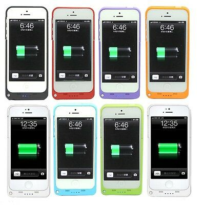 £11.28 • Buy 2200 MAh For IPhone 5 5S External Battery Backup Charging Bank Power Case Cover