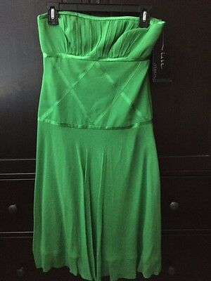 $49.99 • Buy NWT NICOLE MILLER COLLECTION Strapless Green Silk Dress Sz 4 $275