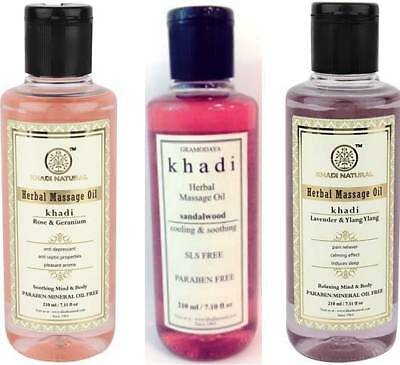 Massage Oil Without Mineral Oil Choose From 3 Khadi Natural Herbal 210 Ml • 10.50£