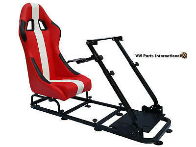 Car Gaming Racing Simulator Frame Chair Bucket Seat Gift For PS5 XBOX Games • 255£