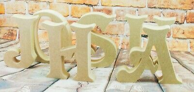 £2.86 • Buy Free Standing Wooden Letters MDF 18 MM Thick-Hand Made-Longdon Names Wedding Art