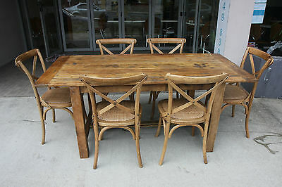 AU1699 • Buy Solid Oak Shanghai Dining Set (table/ 6 Chairs) Best Price & Quality