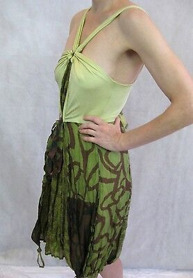 AU89 • Buy Save The Queen Size M Or 10 Green Italian Sun Dress