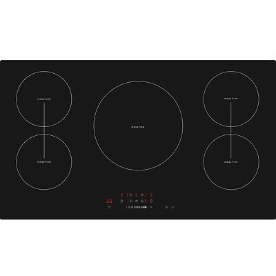 Cookology CIT901 90cm 5 Zone Built-in Touch Control Induction Hob In Black • 299.99£