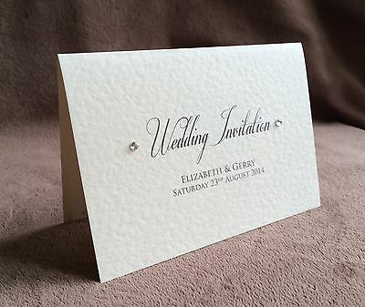 £2 • Buy Personalised Day/Evening Handmade Wedding Invitations-Samples Available. Claire