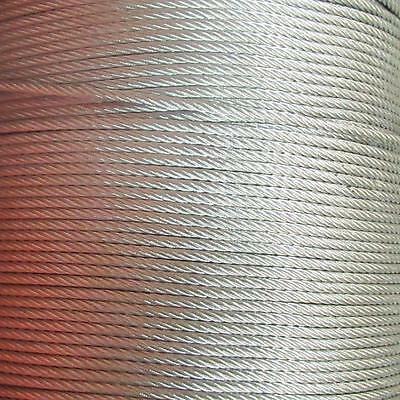 STEEL WIRE ROPE GALVANIZED METAL CABLE 1mm, 2mm, 3.5mm, 4mm, 5.5mm ,6mm, 7mm UK • 1.49£