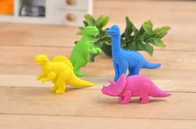 4-64 Pc Cute Dinosaurs Animal Erasers Novelty Fun Kids Rubbers Party Bag Fillers • 4.99£