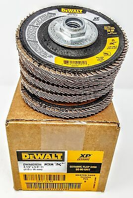 $22.95 • Buy (Box Of 5) DEWALT DWA8282H 4-1/2  X 5/8 -11 80 Grit Ceramic Flap Wheels Discs