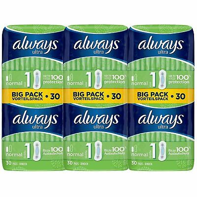 £11.58 • Buy Always Ultra Normal Sanitary Towels Pads Size 1 Women Super Absorbent Pack Of 90