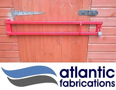 Heavy Duty Security Door Bar 1100mm Red/ Black Home, Office , Shed , Garage • 34£